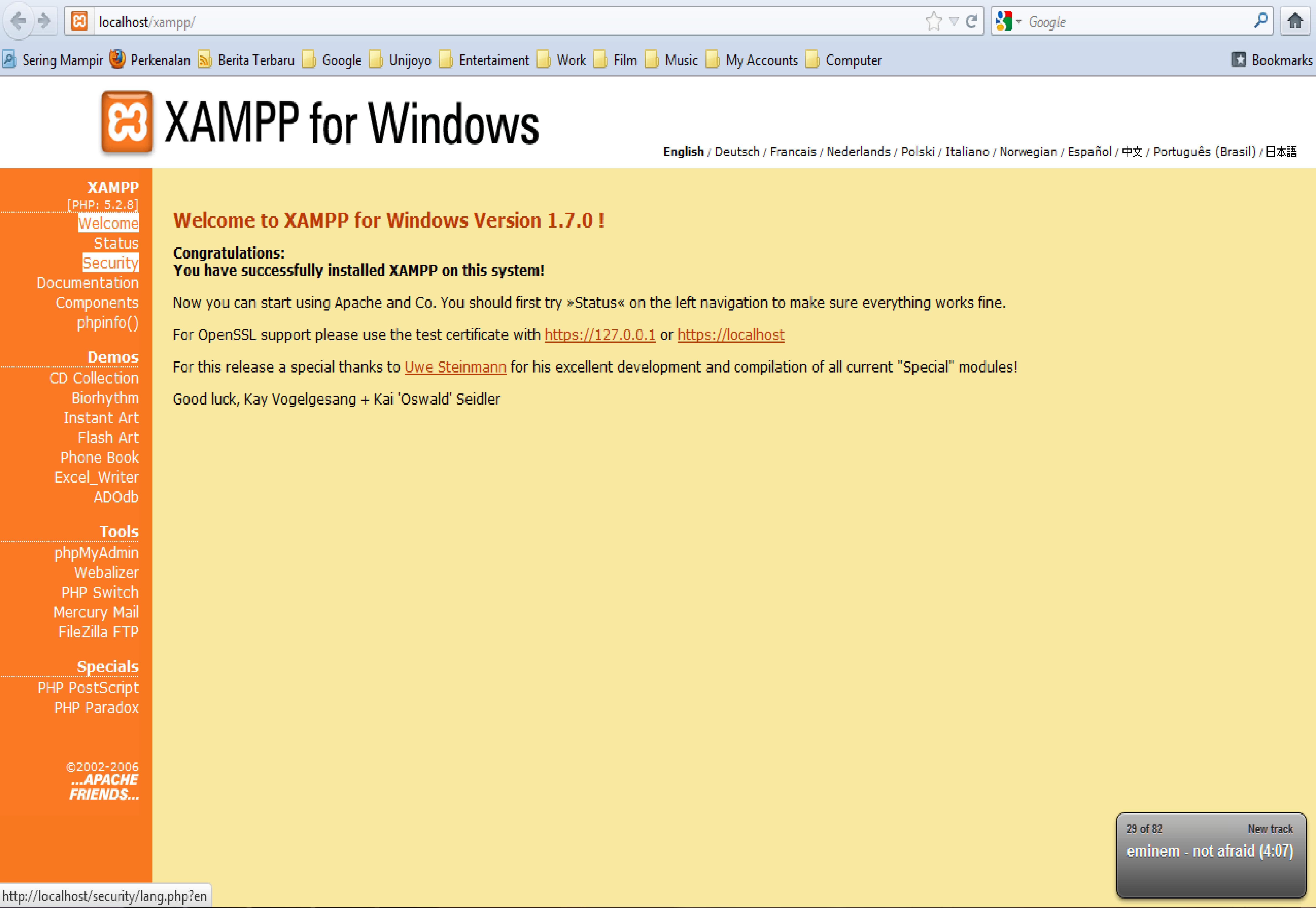 Если вы хотите, чтобы xampp автоматически запускался при перезагрузке системы, добавите в командной строке